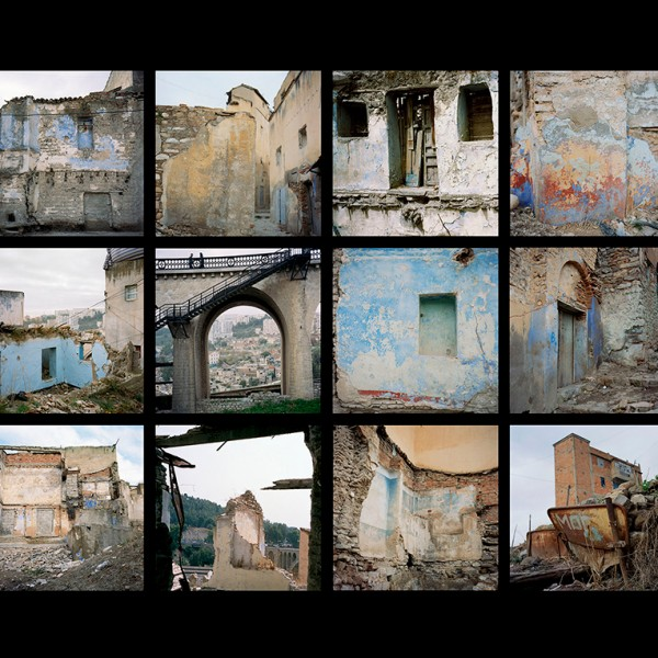 The silence of ruins. Constantine, 2012 - Fragmentation. 12 argentic prints 60 x 60 cm mounted on aluminium.